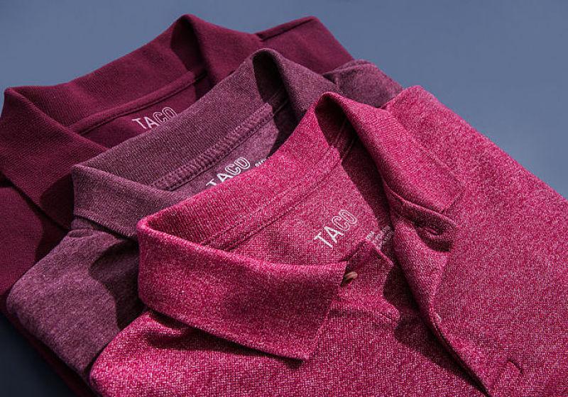 camisas polos masculinas dobradas