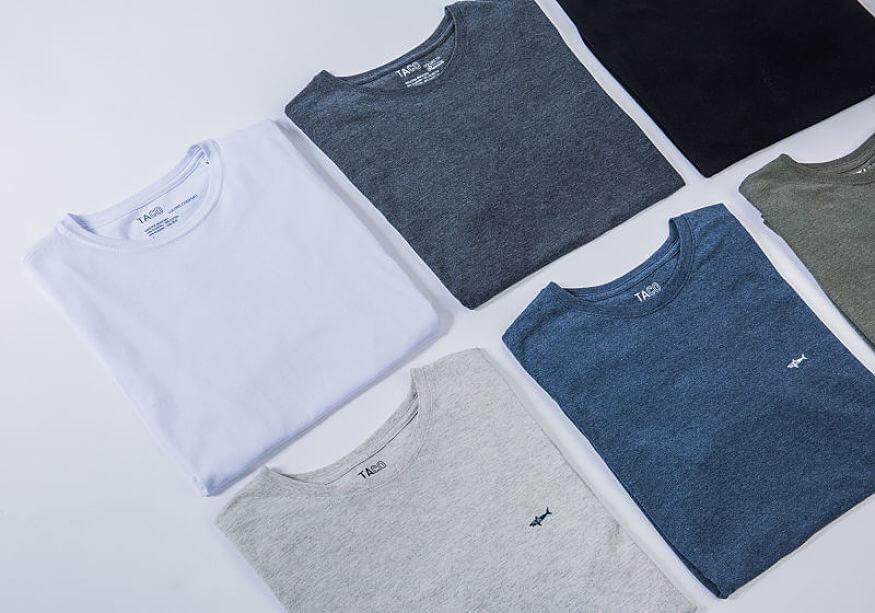t-shirts básicas várias cores