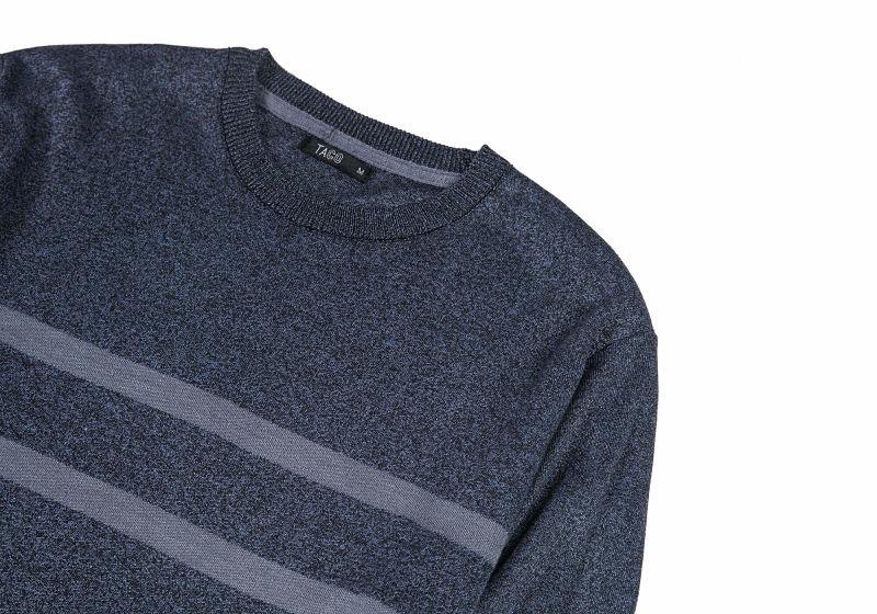 suéter masculino azul com listras azul mais claro