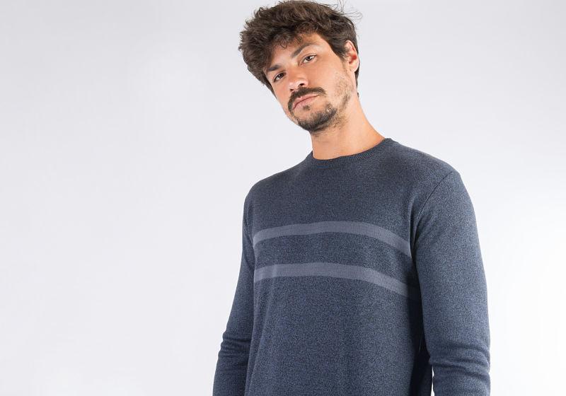 look com suéter masculino
