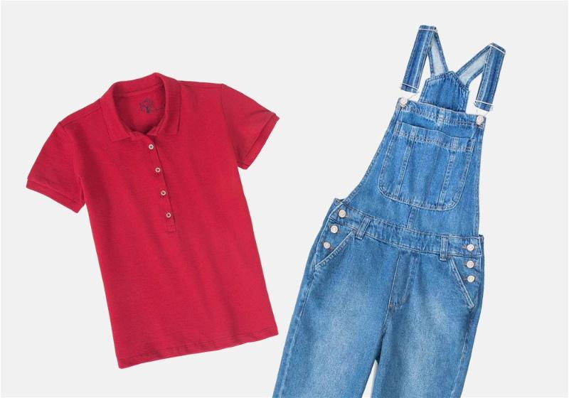 look moderno com camisa polo feminina