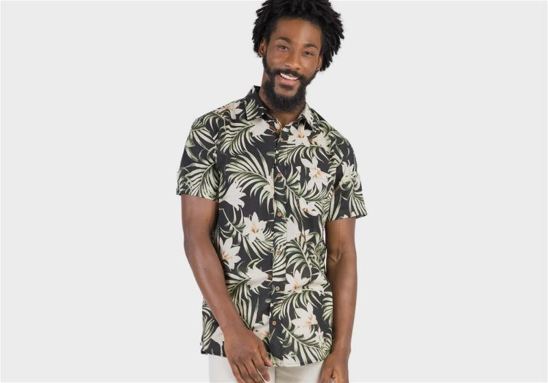 camisa de estampa floral